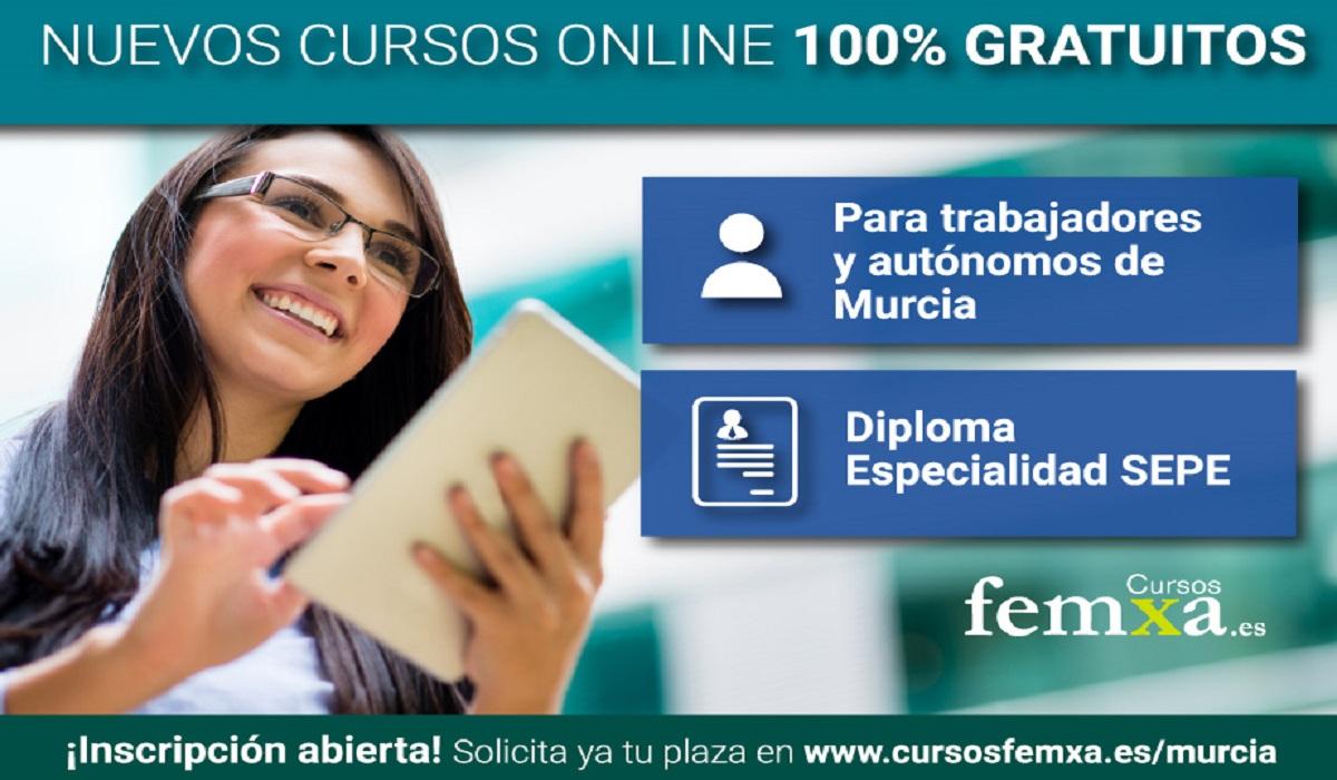 Cursos online del SEFCARM para trabajadores y autónomos