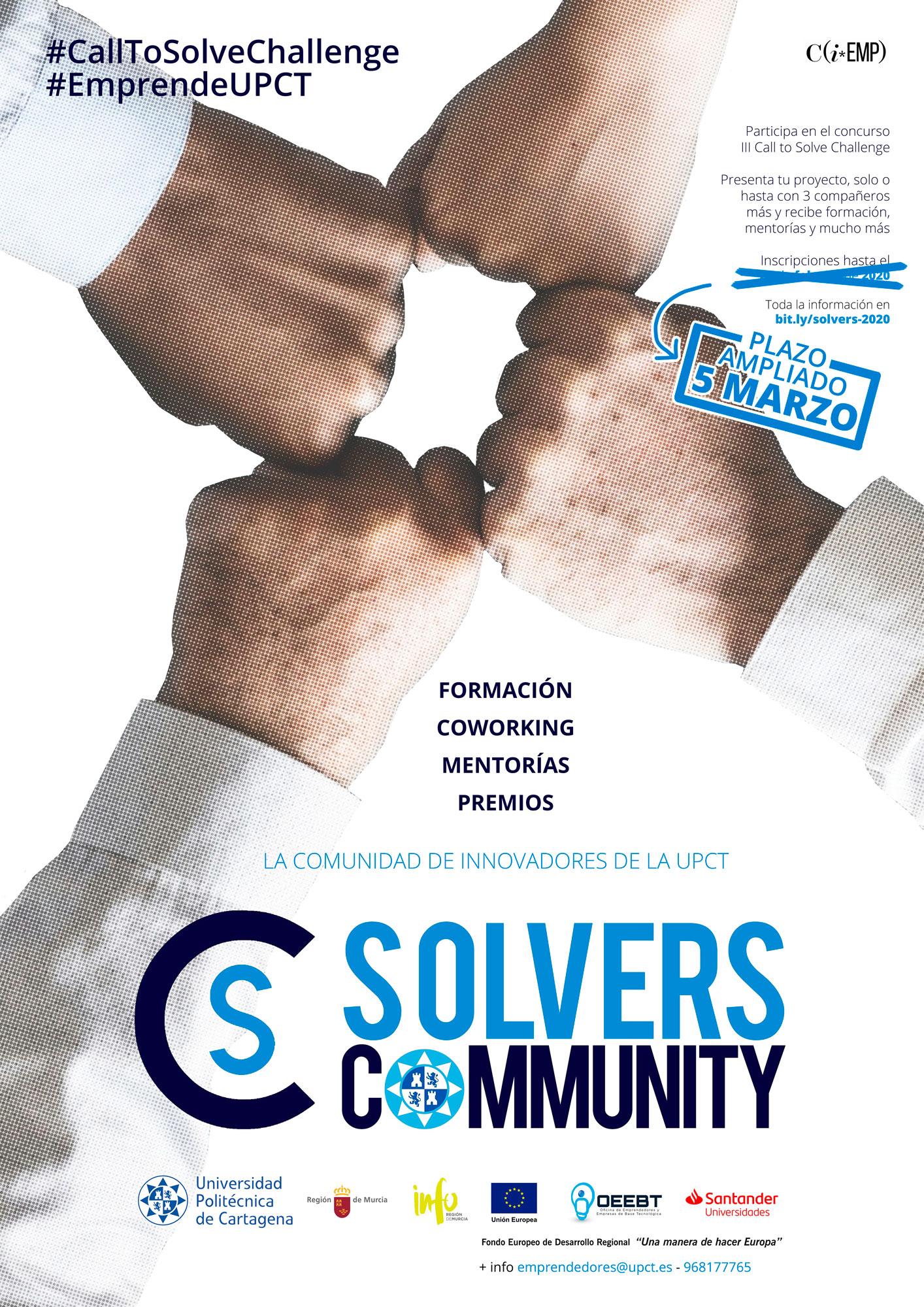 La UPCT busca soluciones innovadoras en su III Convocatoria Solver
