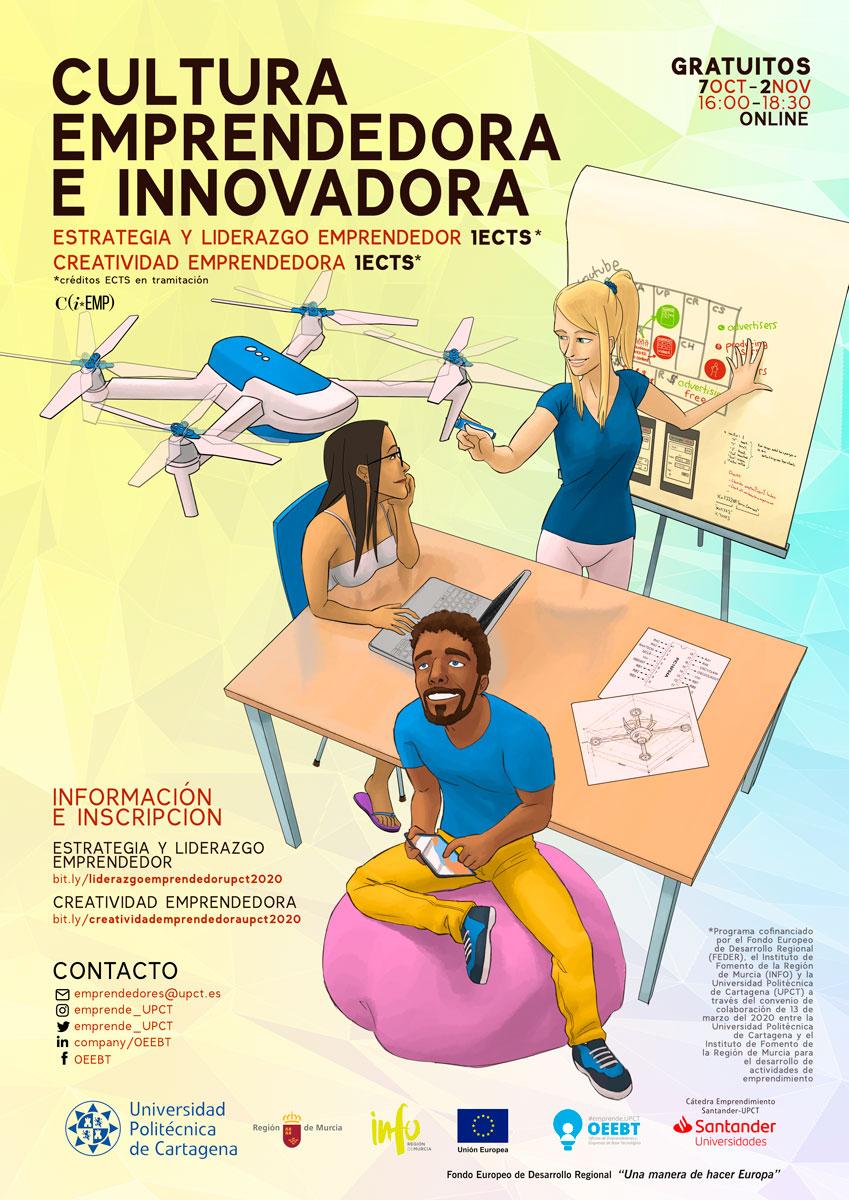 La Oficina de Emprendimiento de la UPCT (OEEBT) lanza seminarios online sobre creatividad, estrategia y liderazgo emprendedor