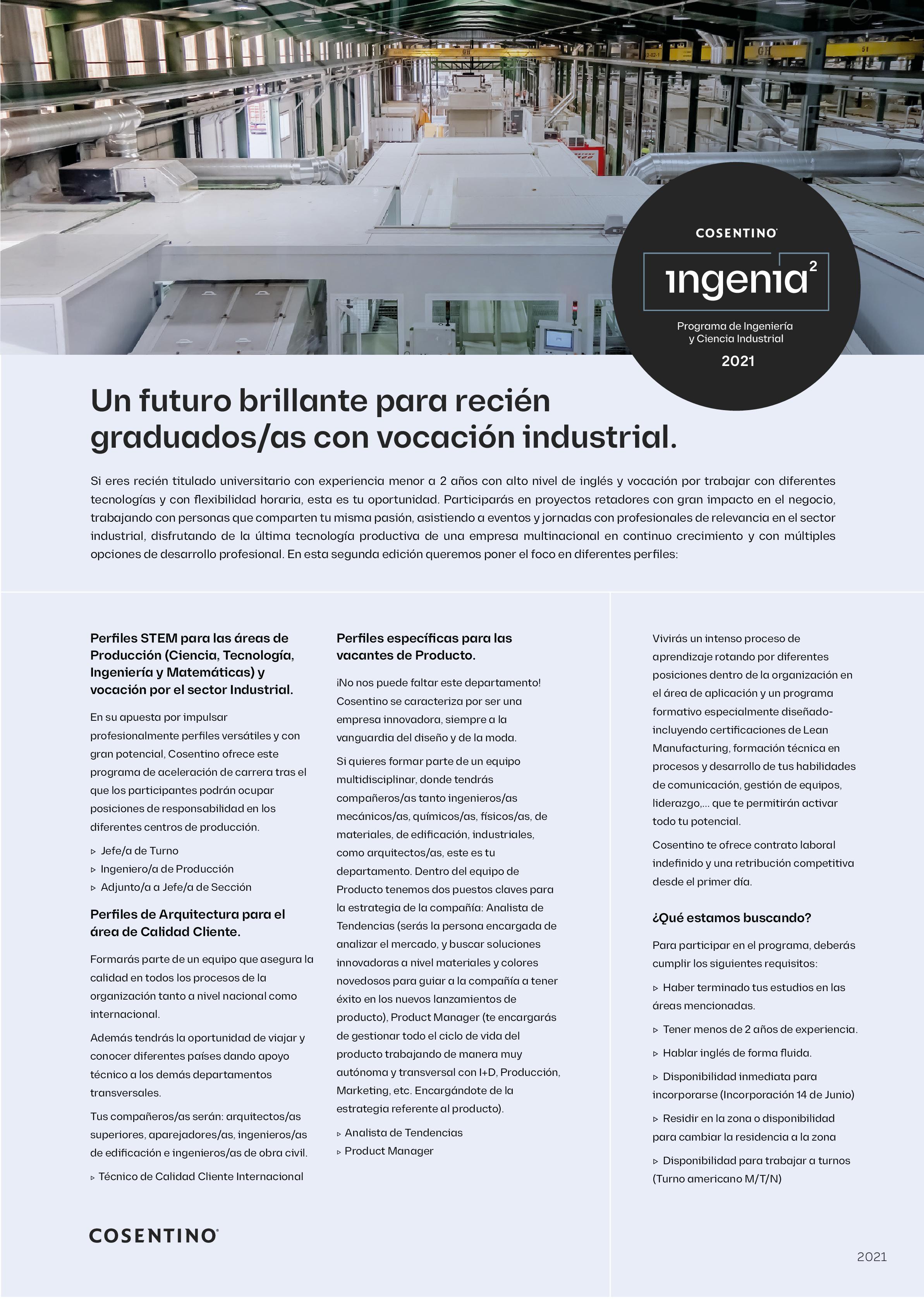 Programa Ingenia 2021
