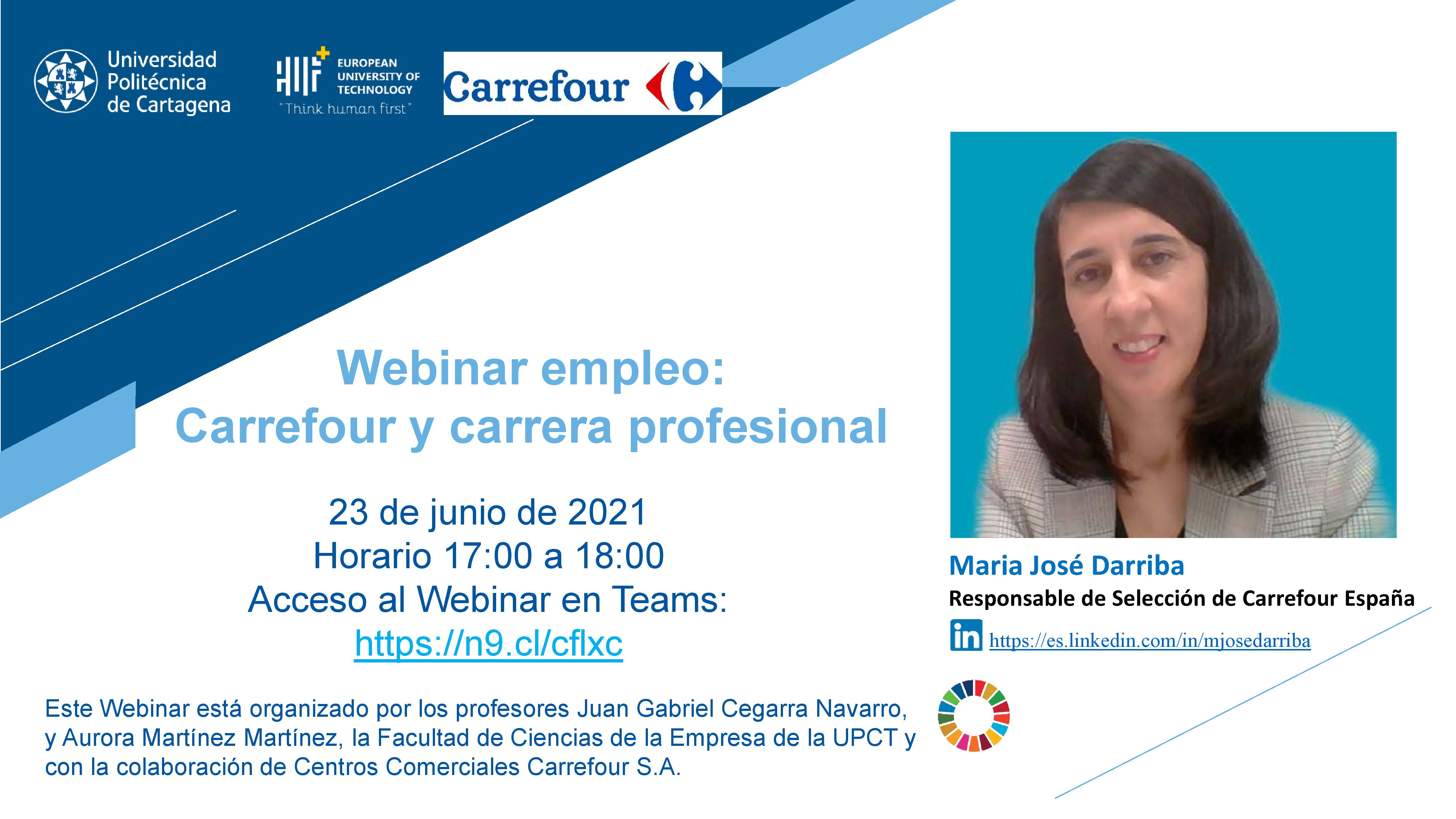 Webinar empleo: Carrefour y carrera profesional